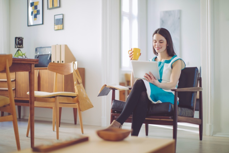 Woman working from home. Feature image for Business Continuity: Remote Work service page