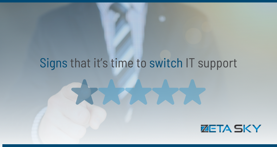 Signs that it's time to switch IT provider